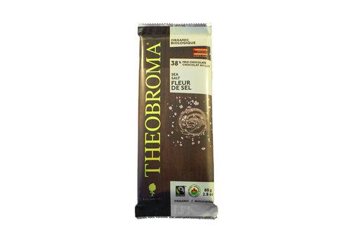 Theobroma Chocolat lait fleur de sel bio sans gluten 80g