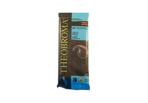 Theobroma Chocolat au lait bio sans gluten 38%