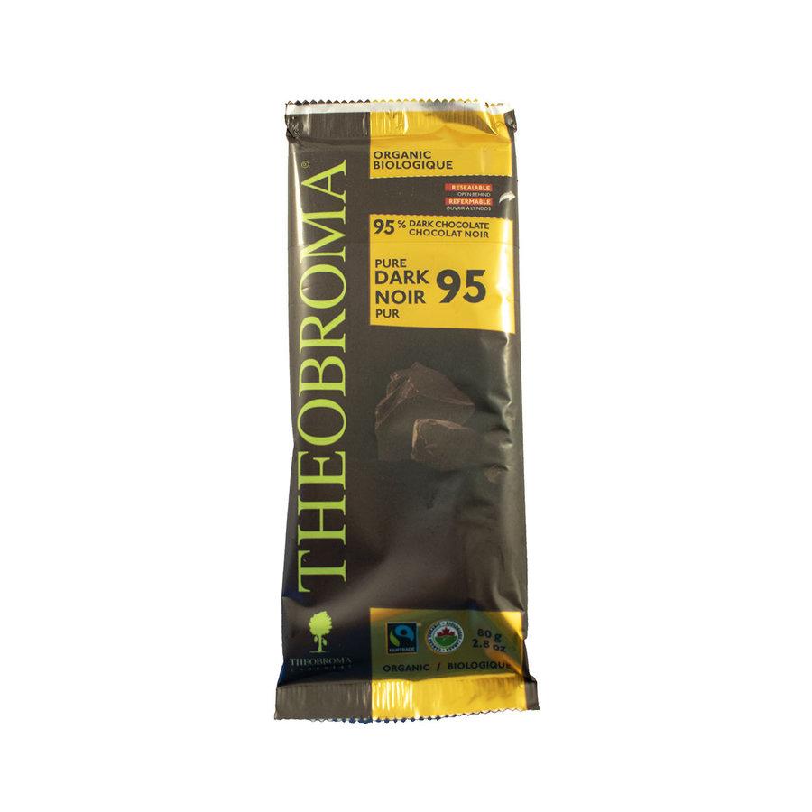 Chocolat Noir 95%  bio vegan sans gluten 80g