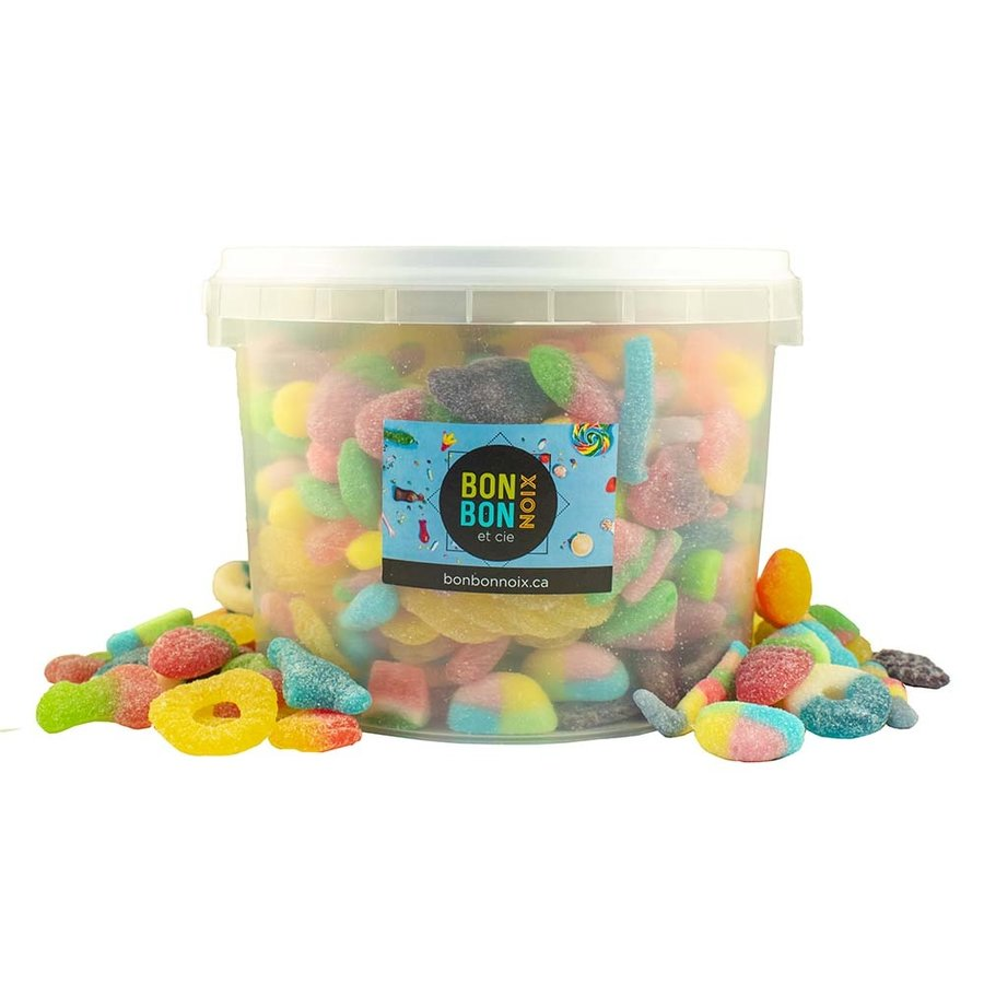 Bucket with Sanded and Sour Candies 2.27kg