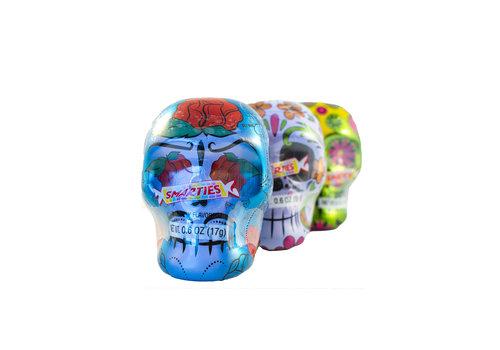 Crâne boîte de métal avec bonbons 17g