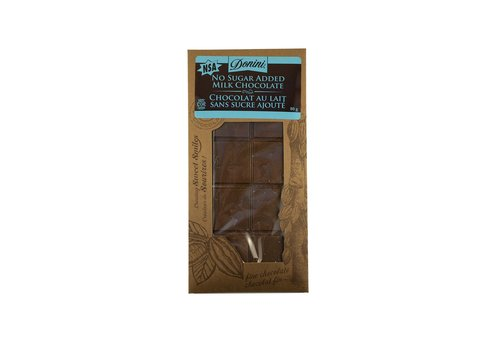 Barre chocolat au lait sans sucre 80g