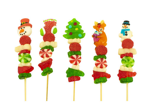 Brochette de bonbons des fêtes 50g