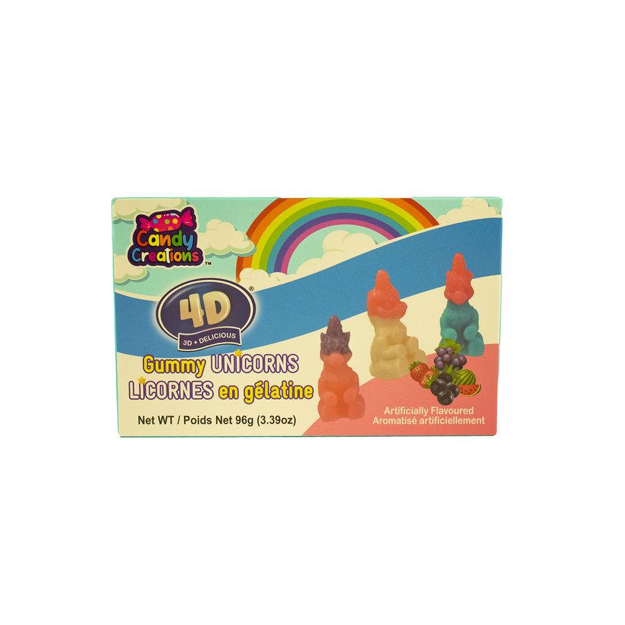 Licornes en gélatine 4D 96g