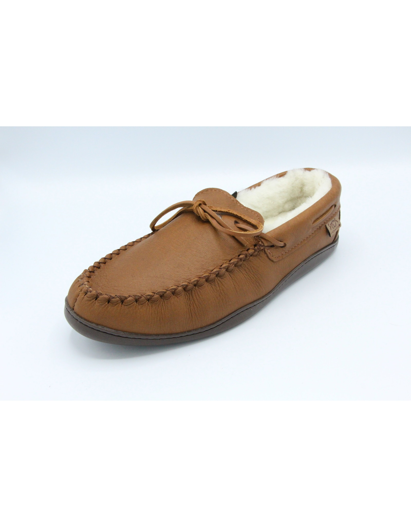 Wool Lined Moose Hide Moccasin