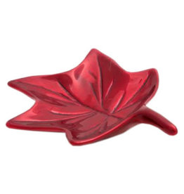 Maple Leaf Dish (Brushed Red) - 527