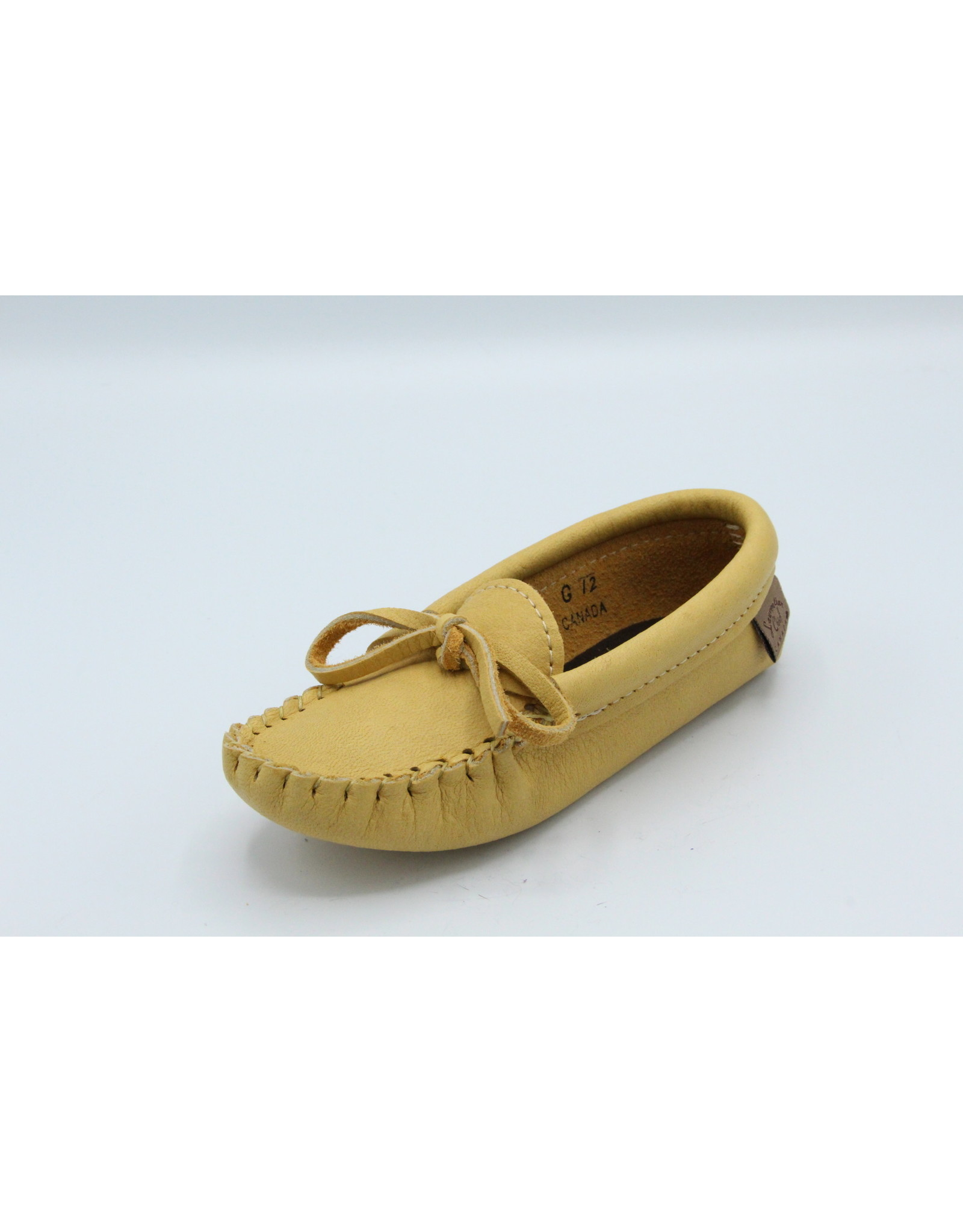 Natural Moose Hide Moccasin Junior - 126J