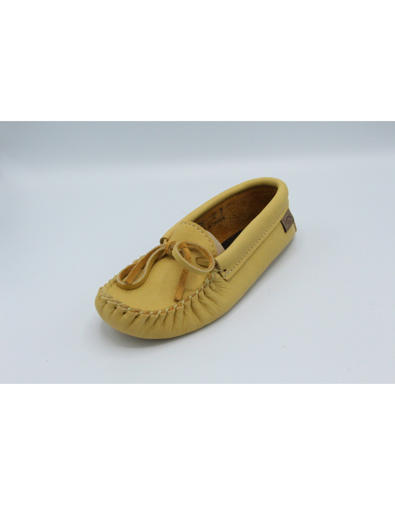 Woman's Natural Moose Hide Moccasin  - 126L