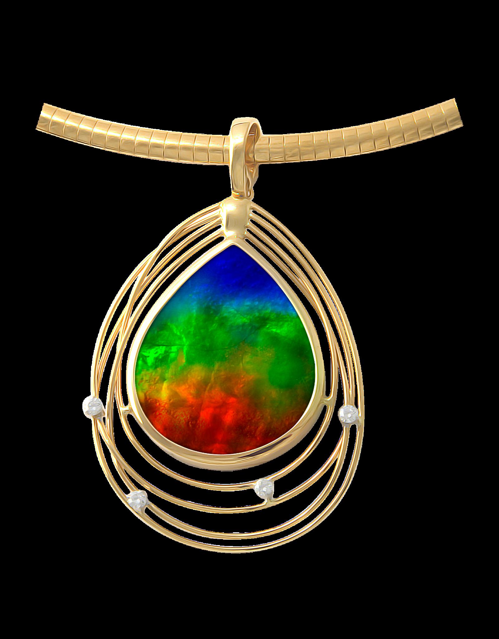 Gold Solara Pendant