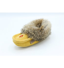 Child Moccasin Fur Slippers
