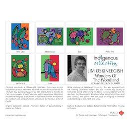 Wonders of the Woodland by Jim Oskineegish 12 Card Box - Box 113