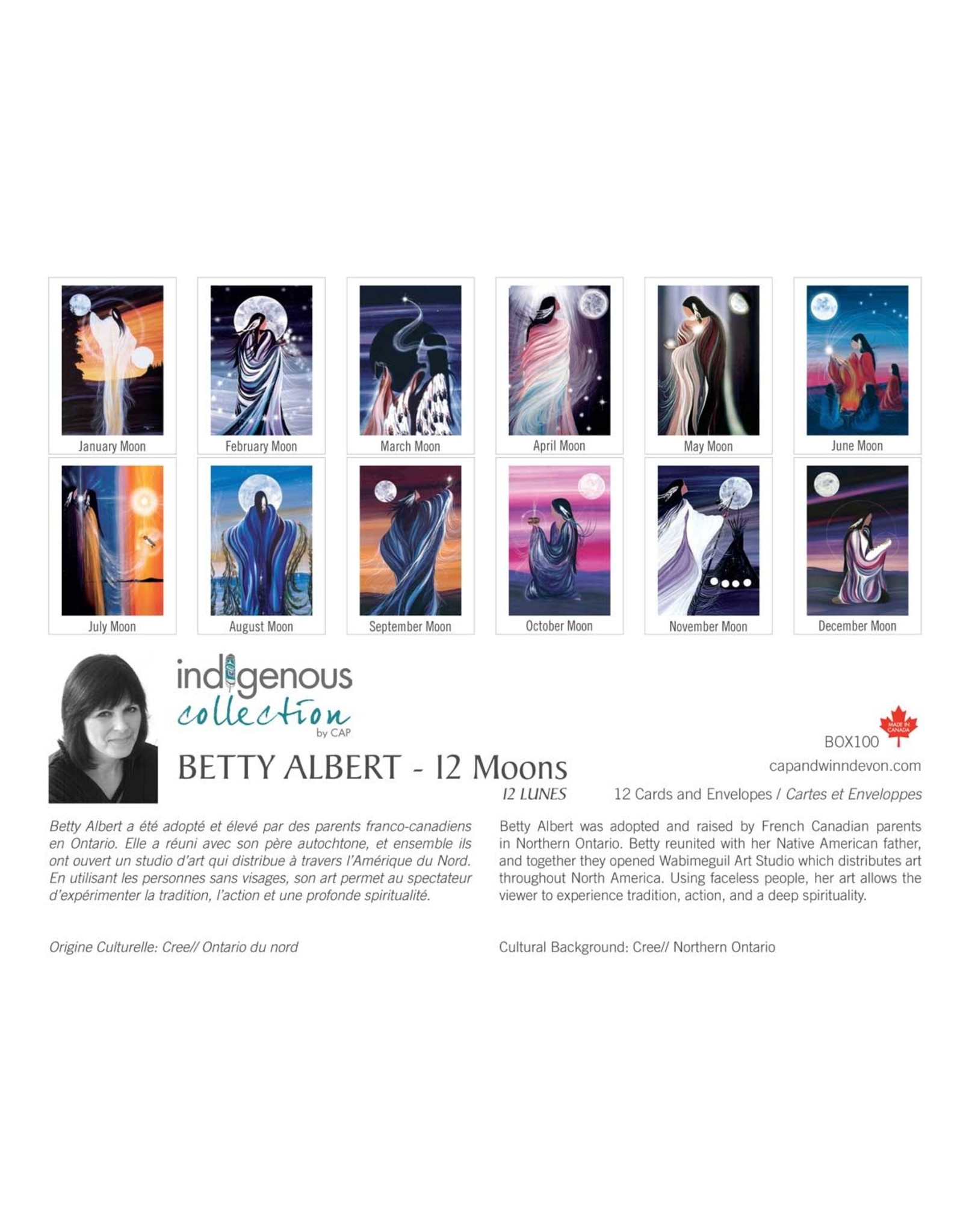 12 Moons by Betty Albert 12 Card Box - Box 100