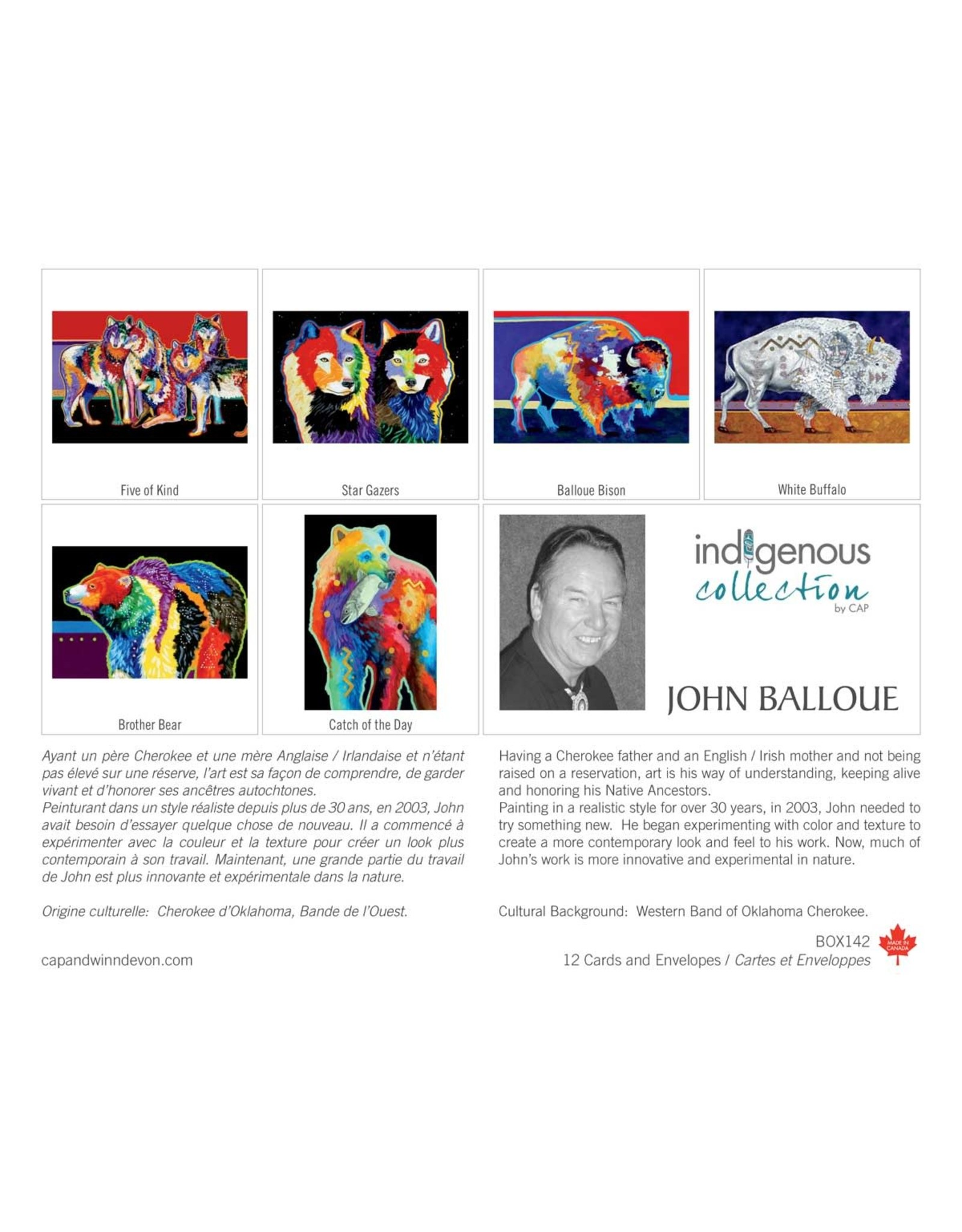 John Balloue 12 Card Box - Box 142
