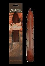 Teak Feather Incense Holder