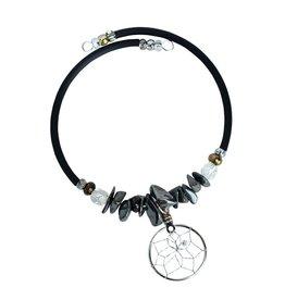 Bracelet avec Capteur de Rêves et Pierres Semi-précieuse - DCWR5