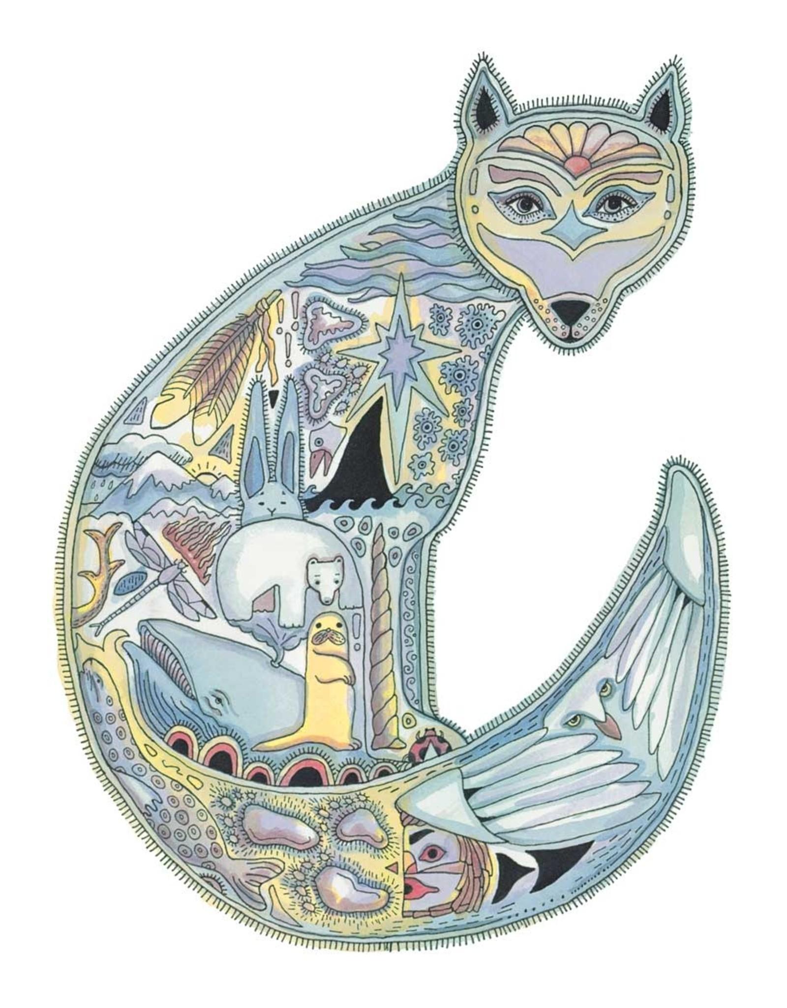 Arctic Fox par Sue Coccia Carte