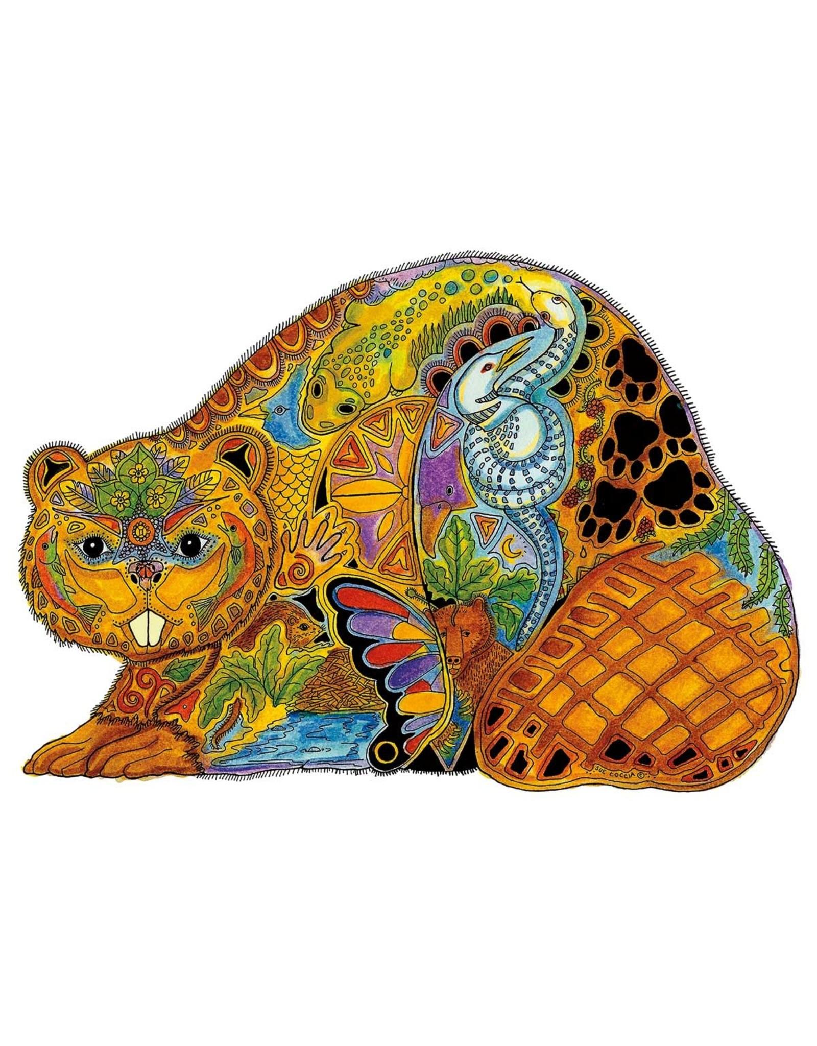 Beaver by Sue Coccia Card
