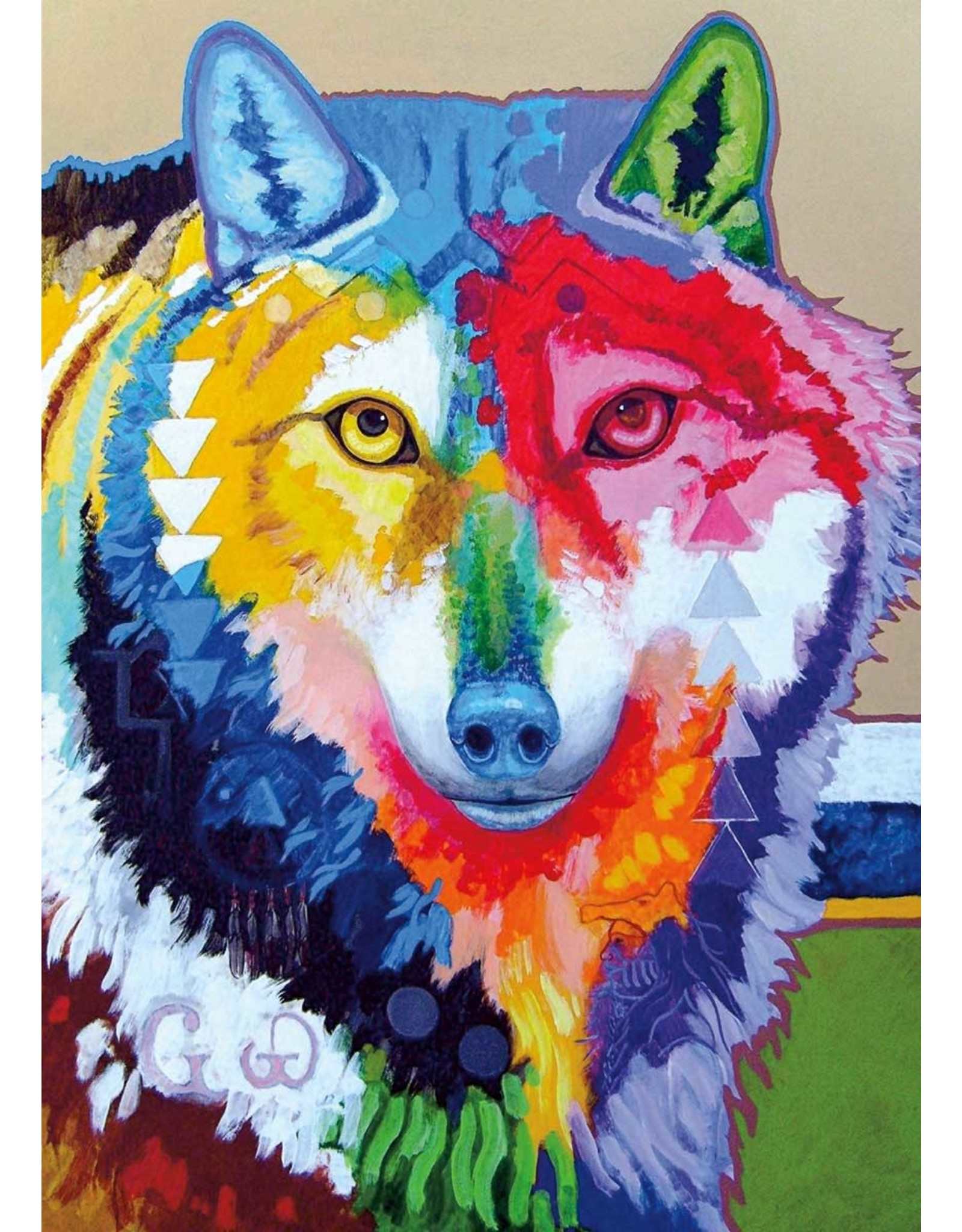 Big Wolf by John Balloue Card