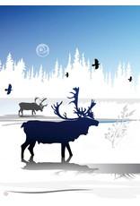 Caribou Winter by Mark Preston Card