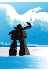 Inukshuk Winter by Mark Preston Card