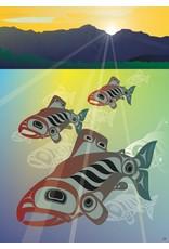 Salmon Fall Run by Mark Preston Card