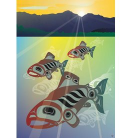 Salmon Fall Run par Mark Preston Carte