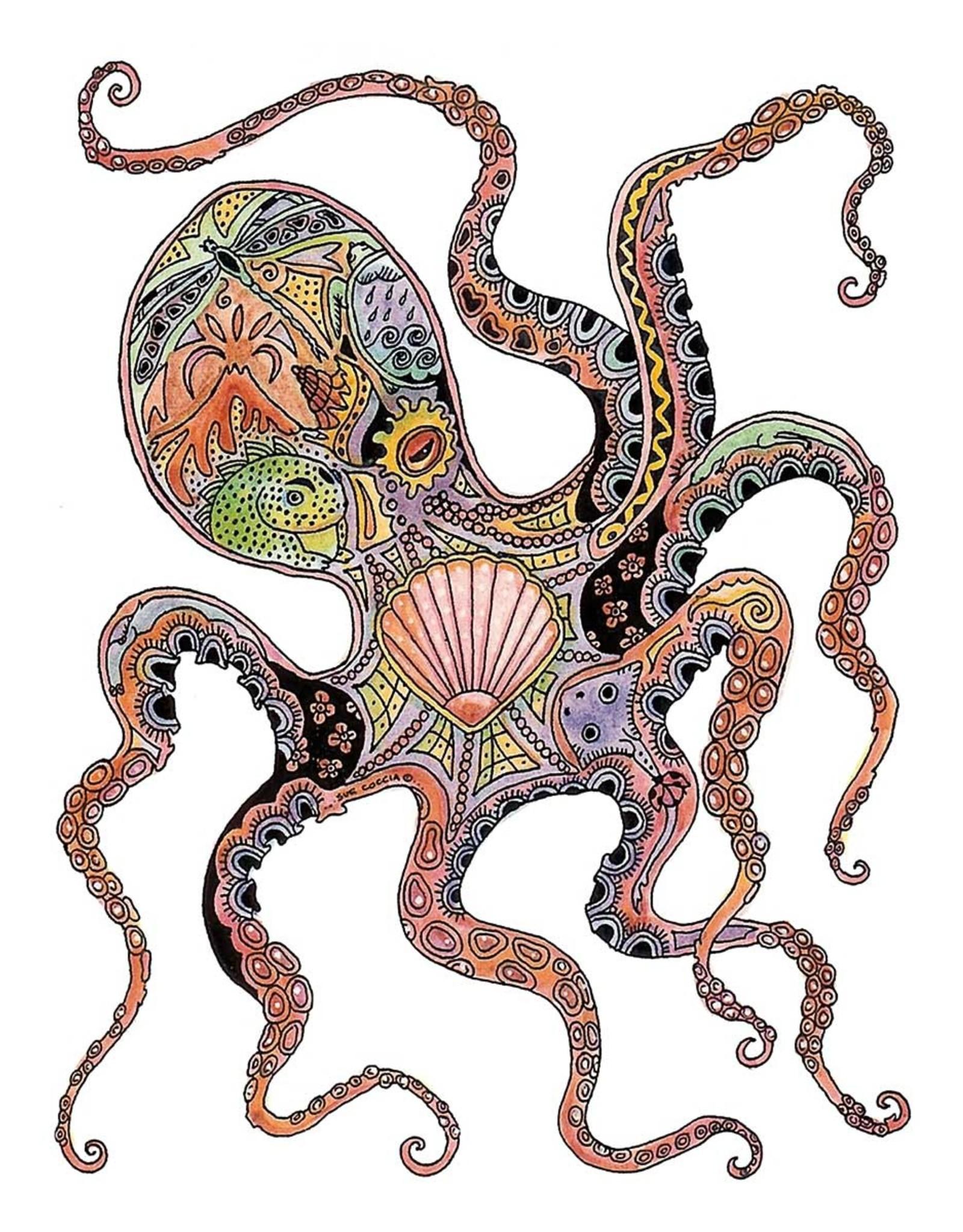 Octopus by Sue Coccia Card