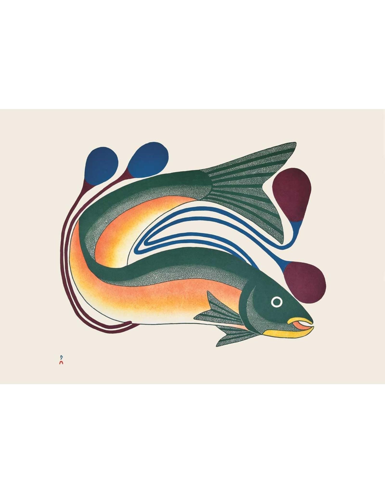 Iqalutsiavak (Beautiful Fish) by Kenojuak Ashevak Card