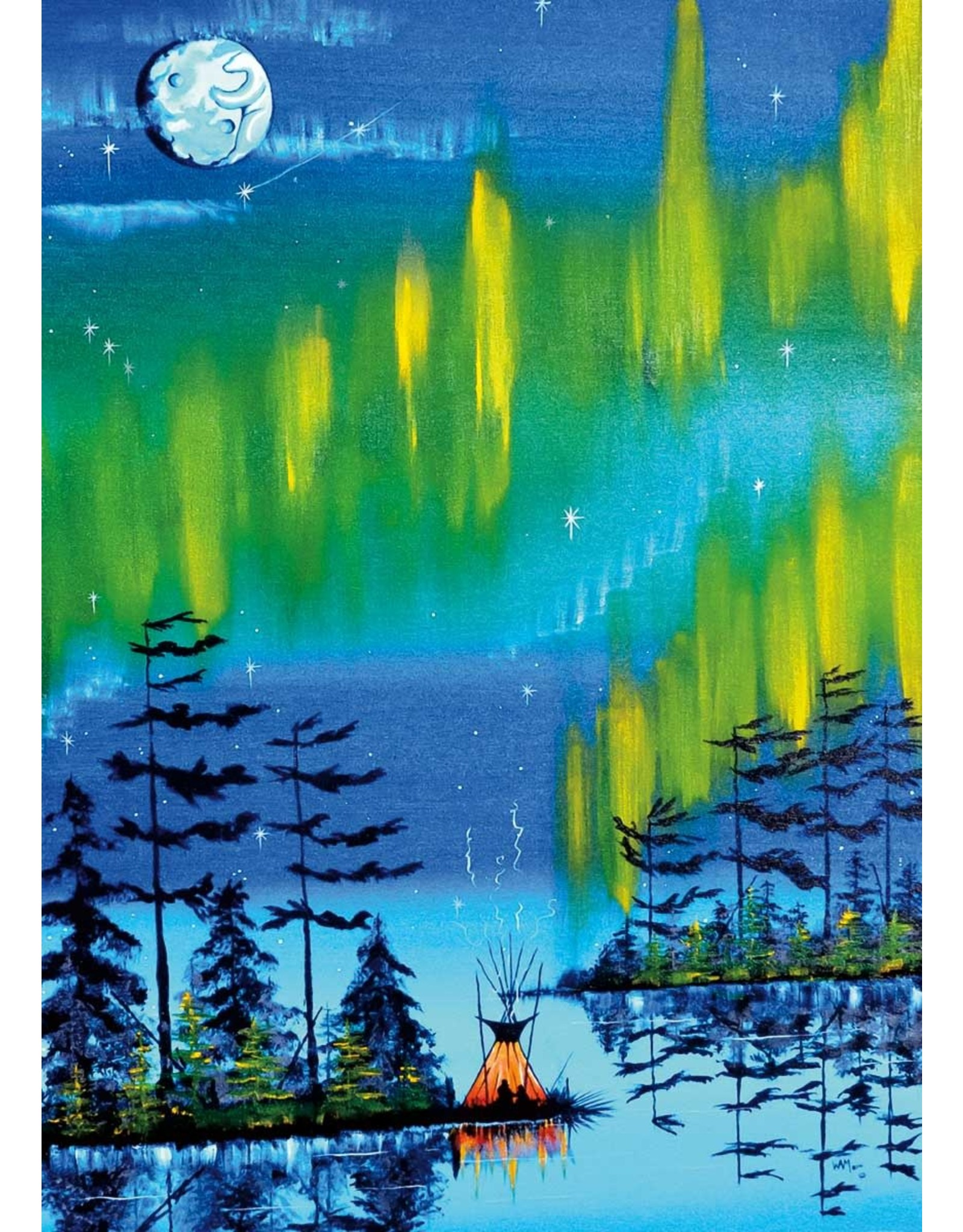 Northern Lights by William Monague Card