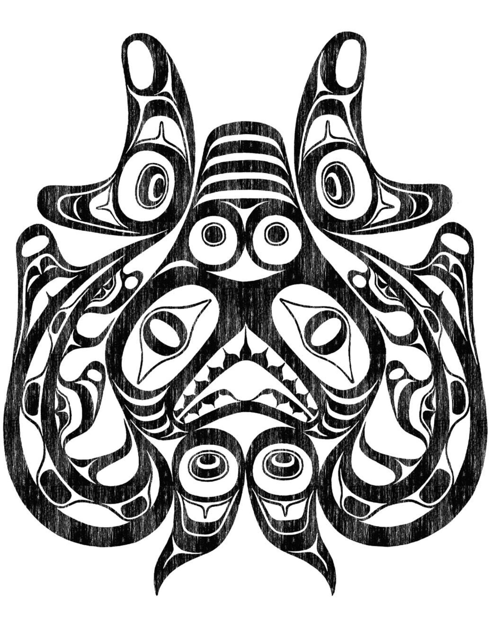 Xaxada - Haida Dogfish. Woodcut by Bill Reid Card