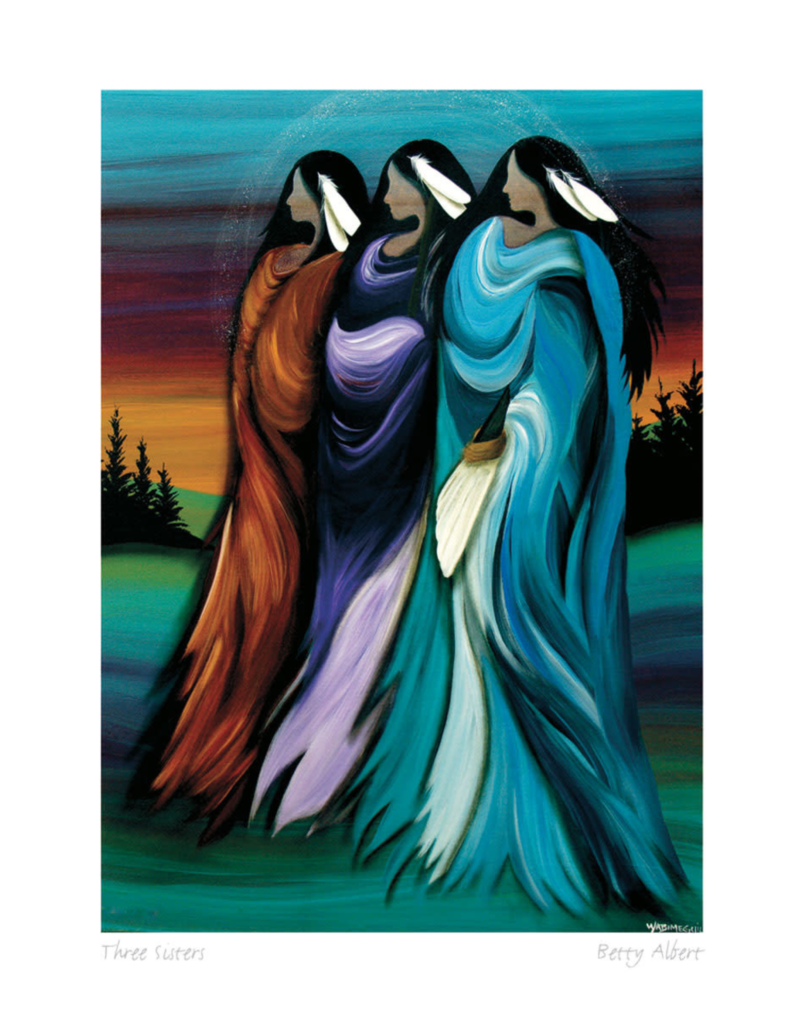 Three Sisters by Betty Albert Card