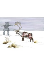 Caribou by Richard Shorty Card