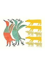 Birds Frightened by Bear par Anna Kingwatsiak Carte