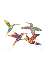 Four Hummingbirds by Ben Houstie Card