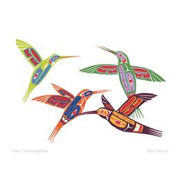 Four Hummingbirds par Ben Houstie Carte