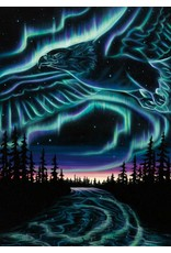Sky Dance - Eagles Over the Sky by Amy K-Rempp Card