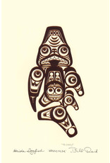 Haida Dogfish - Qqaaxhada by Bill Reid Card