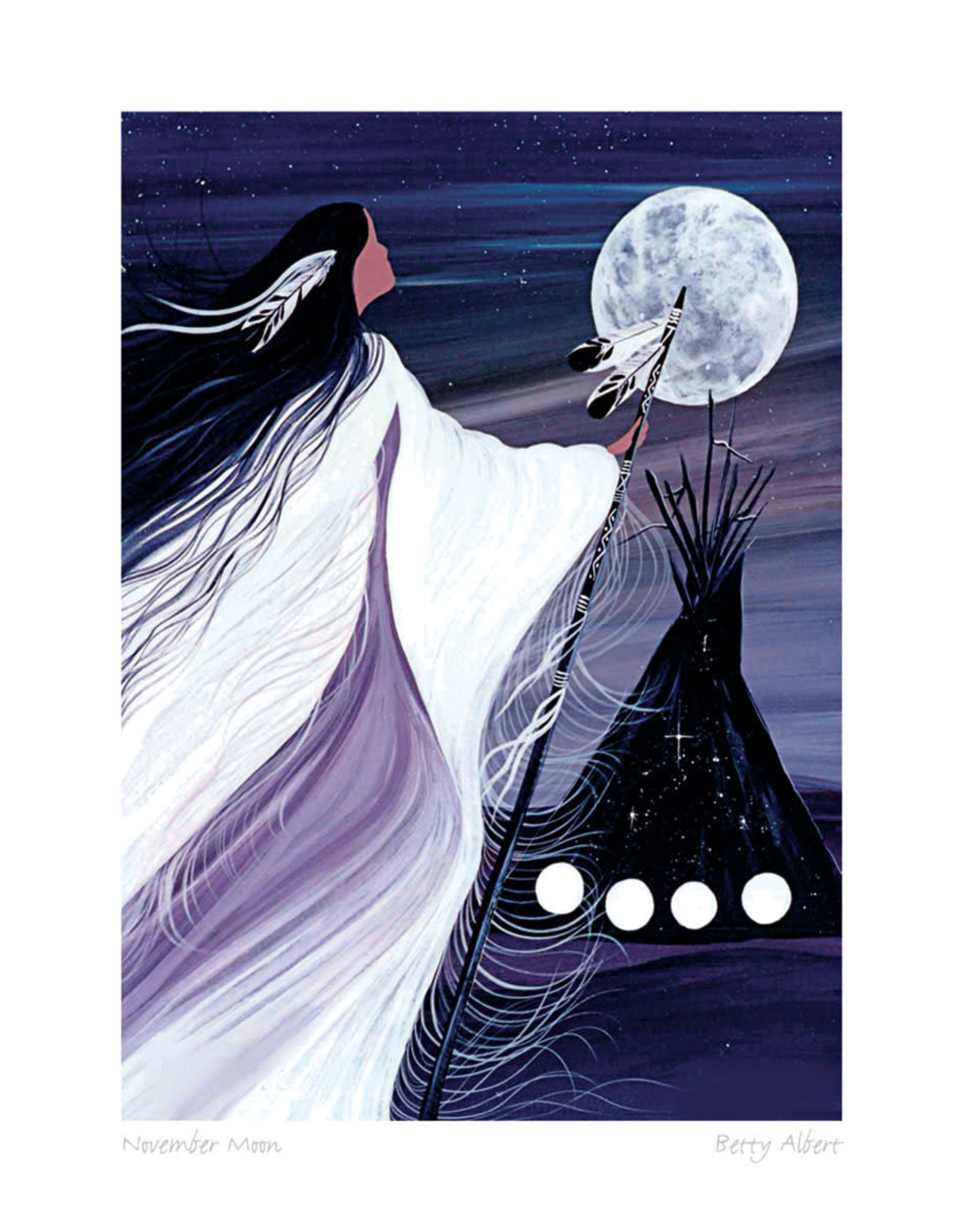 November Moon by Betty Albert Card