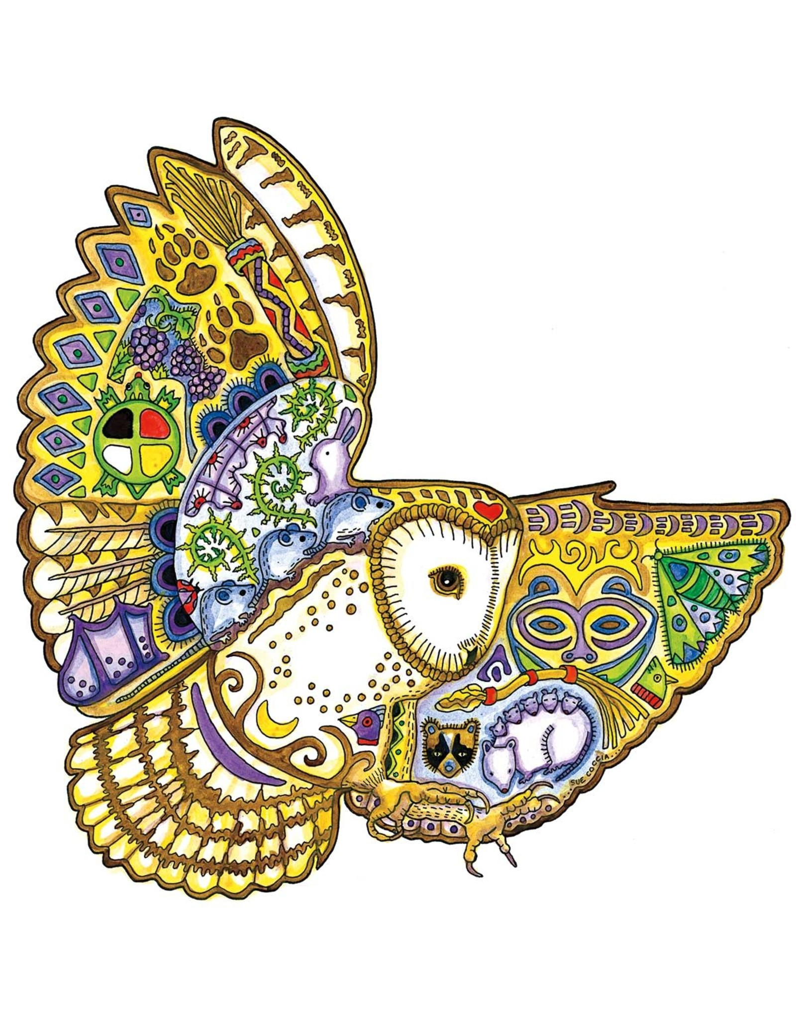 Barn Owl par Sue Coccia Carte