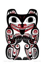 Haida Grizzly Bear par Clarence Mills Carte