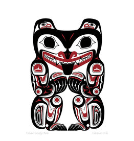 Haida Grizzly Bear by Clarence Mills Card