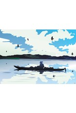 Canoe People Eagle by Mark Preston Card