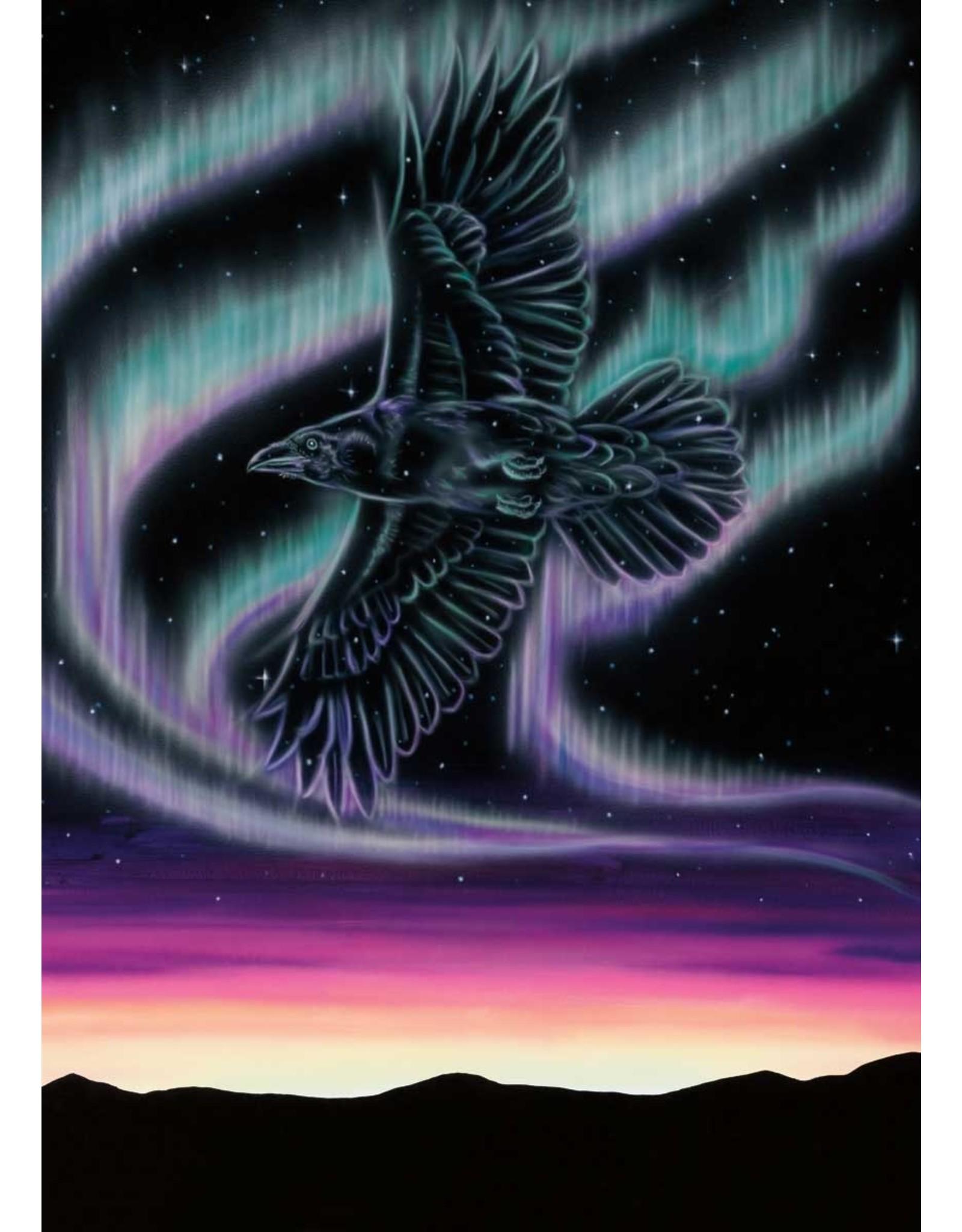 Sky Dance - Raven by Amy Keller-Rempp Card