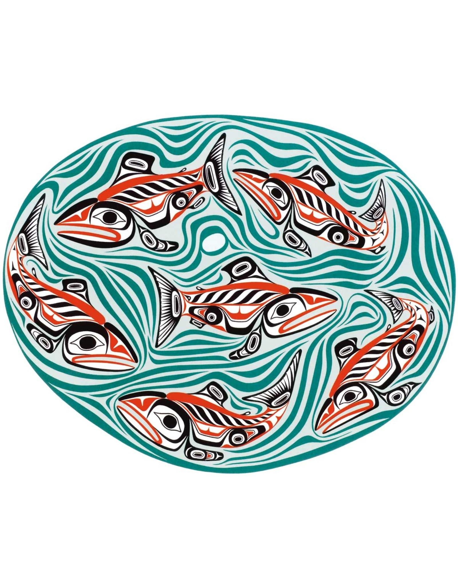 Swg'ag'aann-Sockeye Salmon Pool par Bill Reid Carte