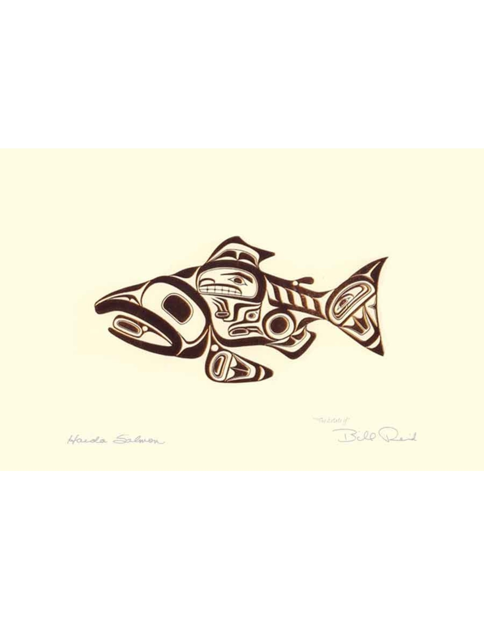 Haida Salmon by Bill Reid Matted 7440