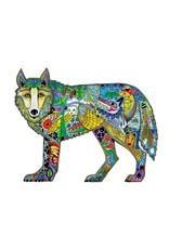 Wolf Standing par Sue Coccia Montée sur Passe-Partout