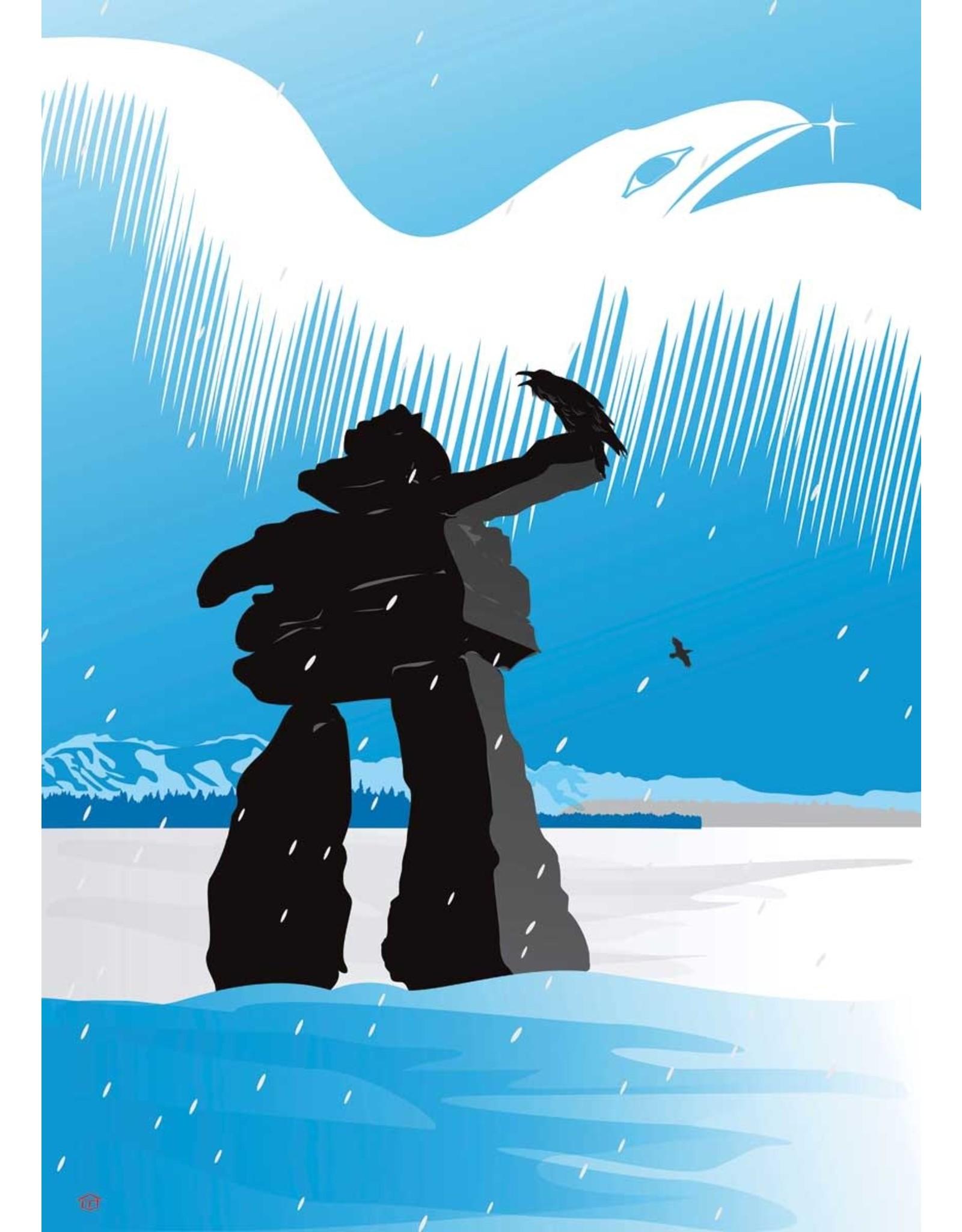 Inukshuk Winter by Mark Preston Matted