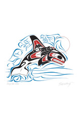 Diving Killer Whale by Richard Shorty Matted