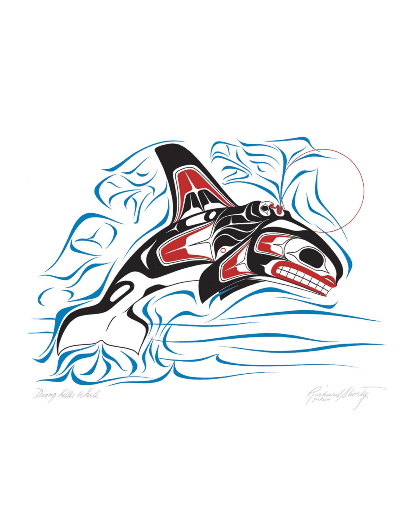Diving Killer Whale par Richard Shorty Montée sur Passe-Partout