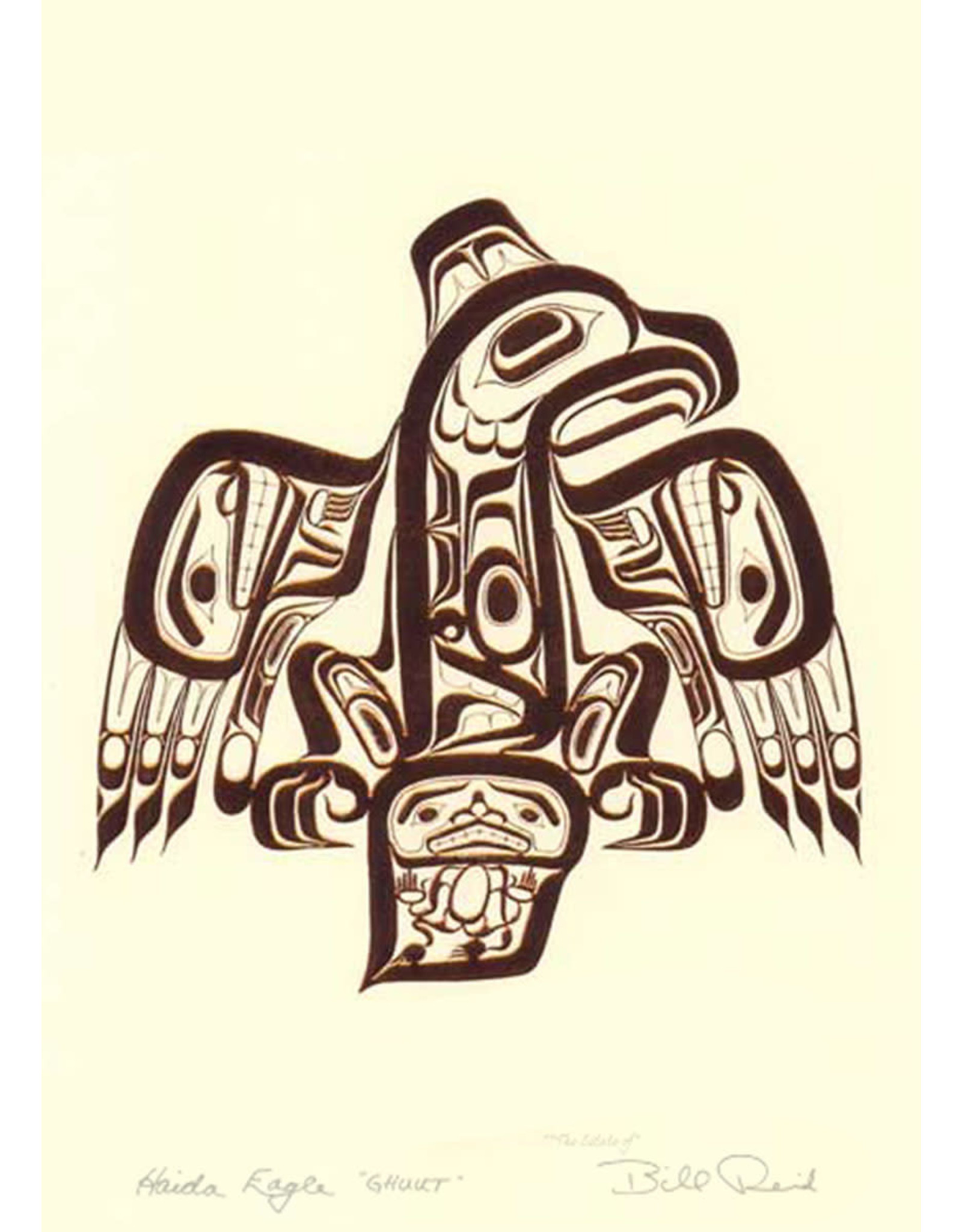 Haida Eagle Ghuut by Bill Reid Matted